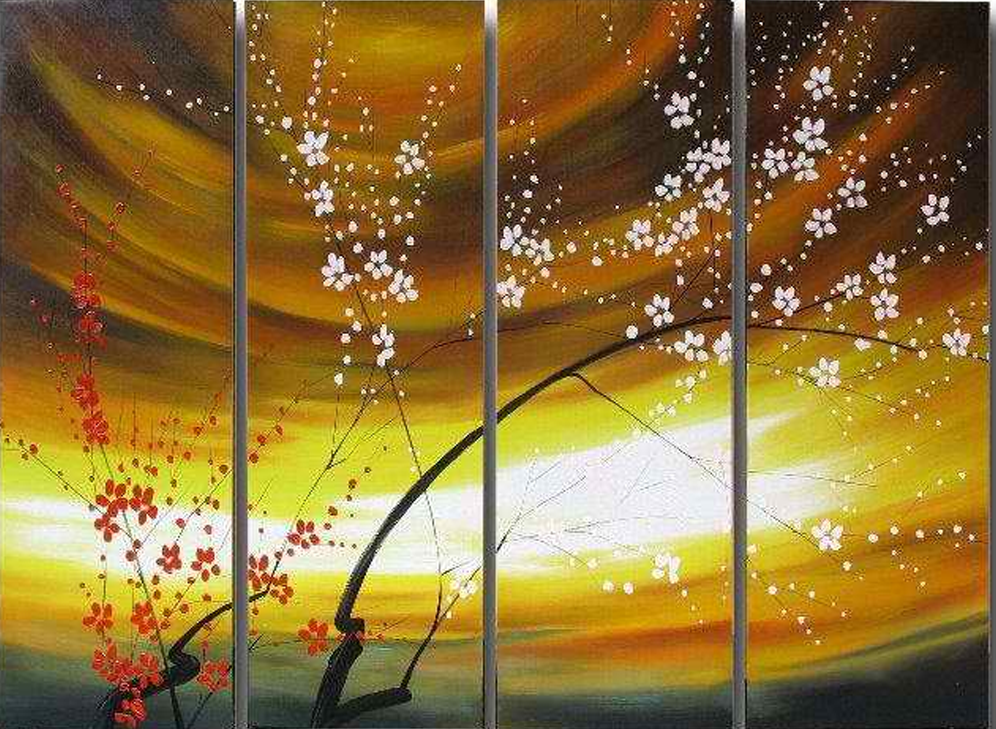 Amazing Sky 4 piece set Painting