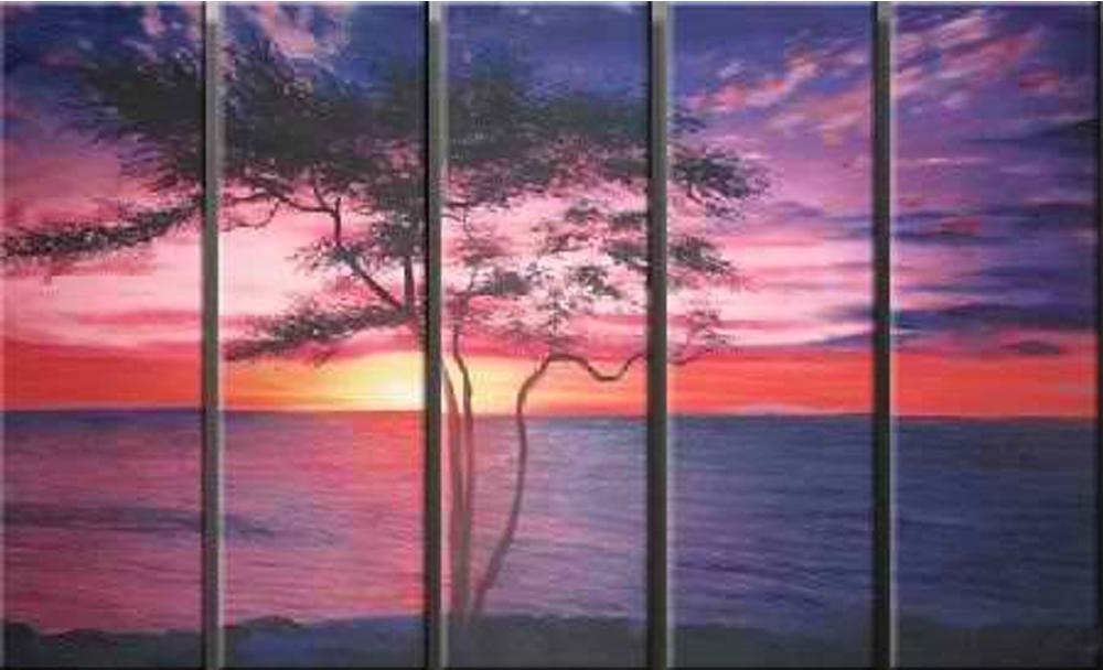 A Violet Evening 5 piece set Painting