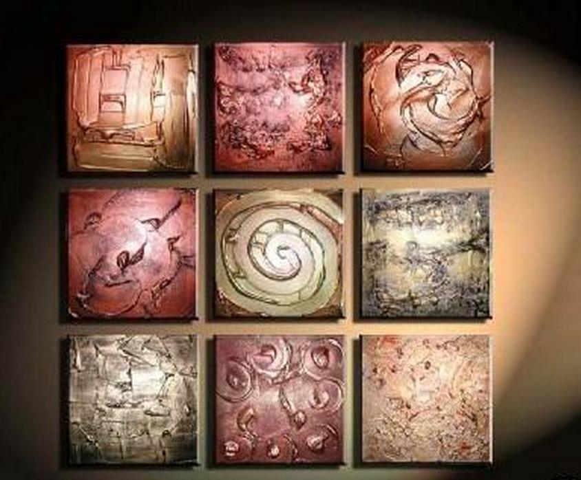 Different Tile Patterns 9 piece set Painting