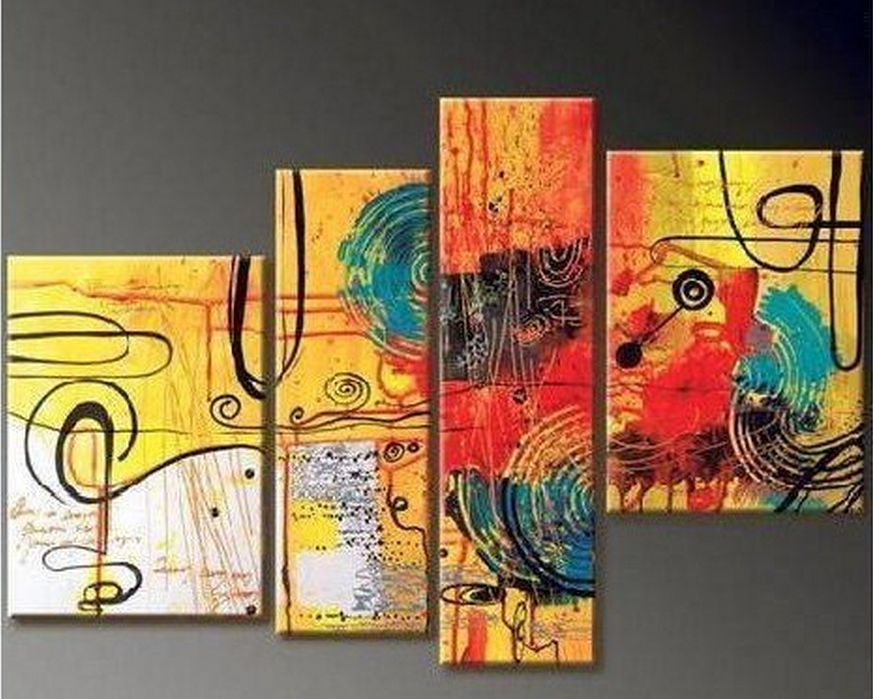 Free Style Drawing 4 piece set Painting