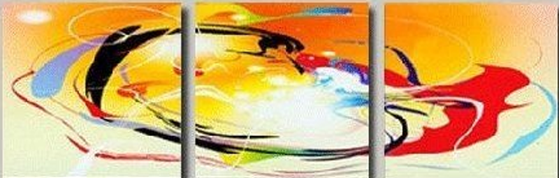Abstract Color Design 3 piece set Painting