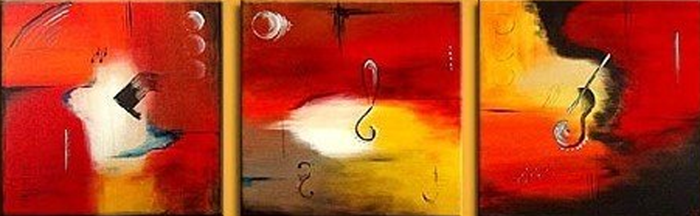 Abstract Red Object 3 piece set Painting