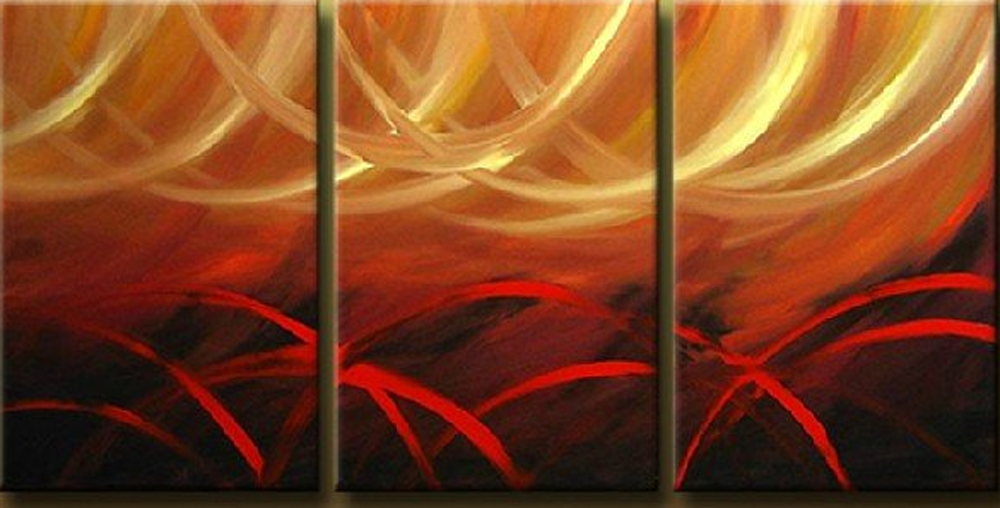 Between White and Red 3 piece set Painting