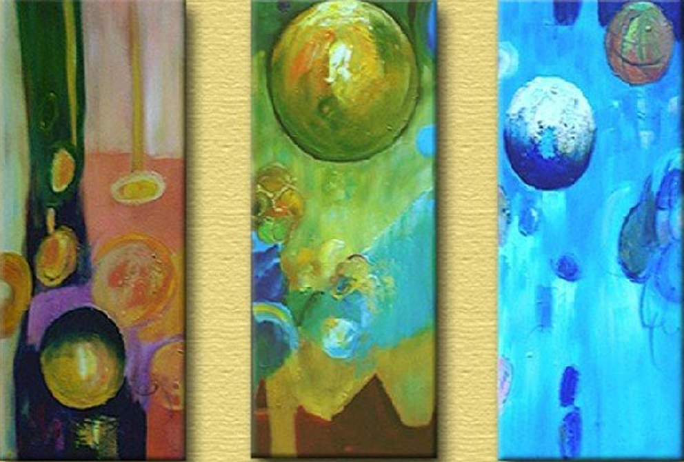 Abstract Circles 3 piece set Painting