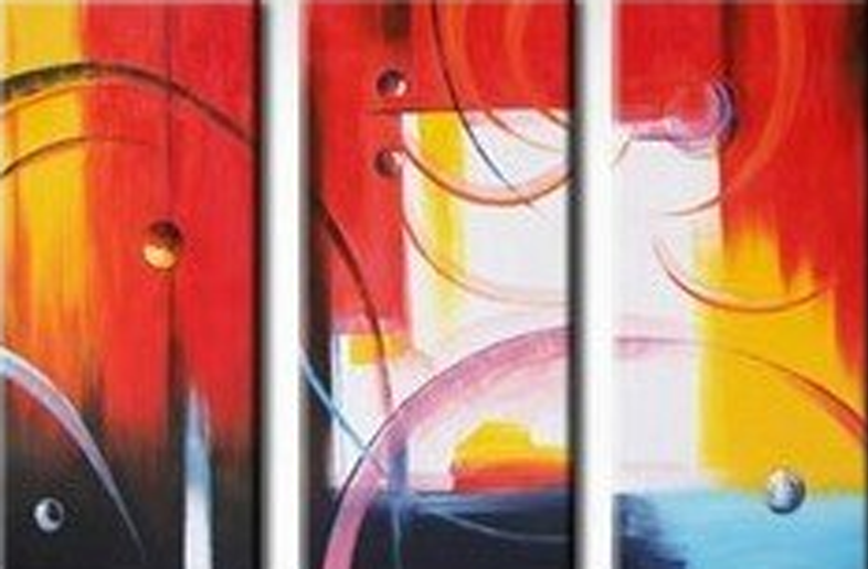 Abstract Sunset 3 piece set Painting