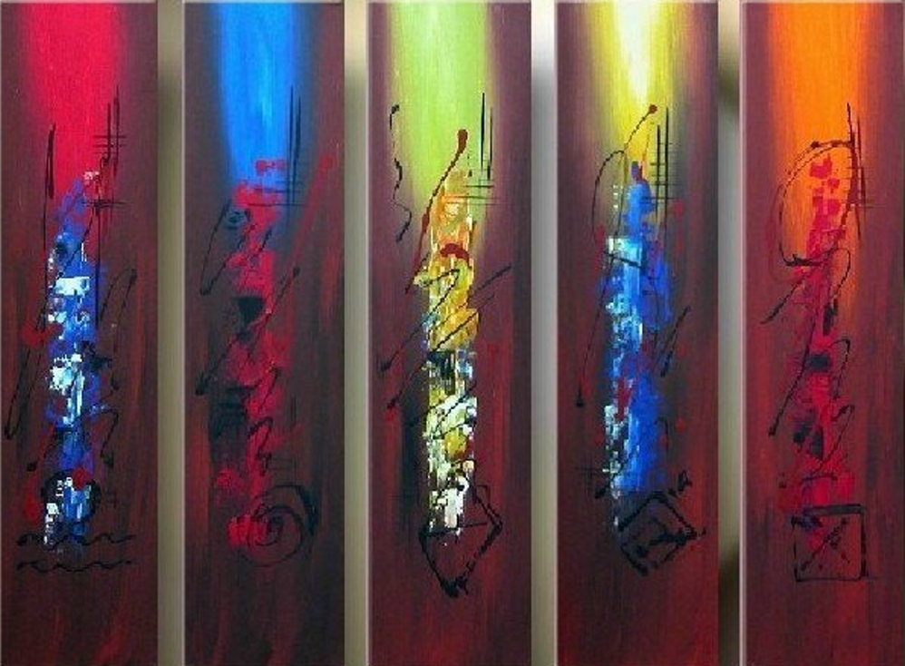 Abstract Colored Women 5 piece set Painting
