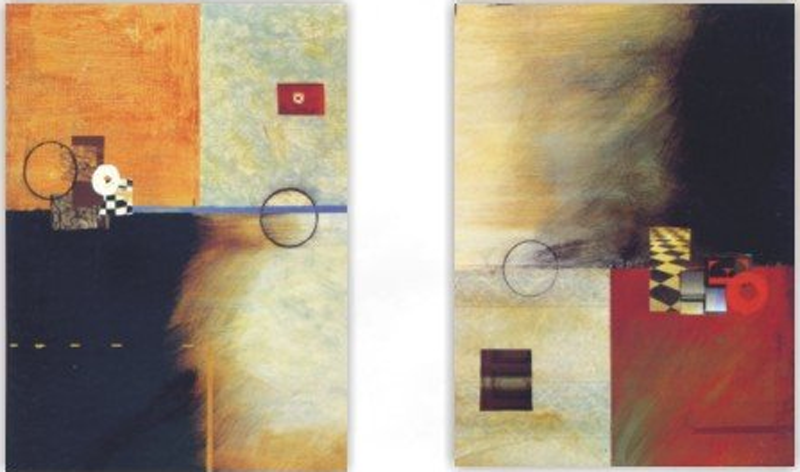 Abstract Room Design 2 piece set Painting