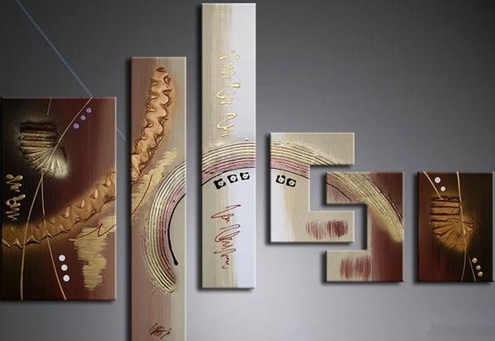 Very Nice Wood Design 6 piece set Painting