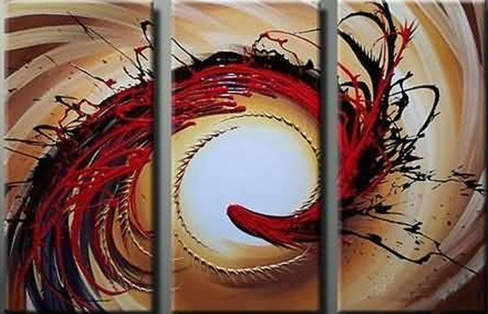 Abstract Spiral Design 3 piece set Painting