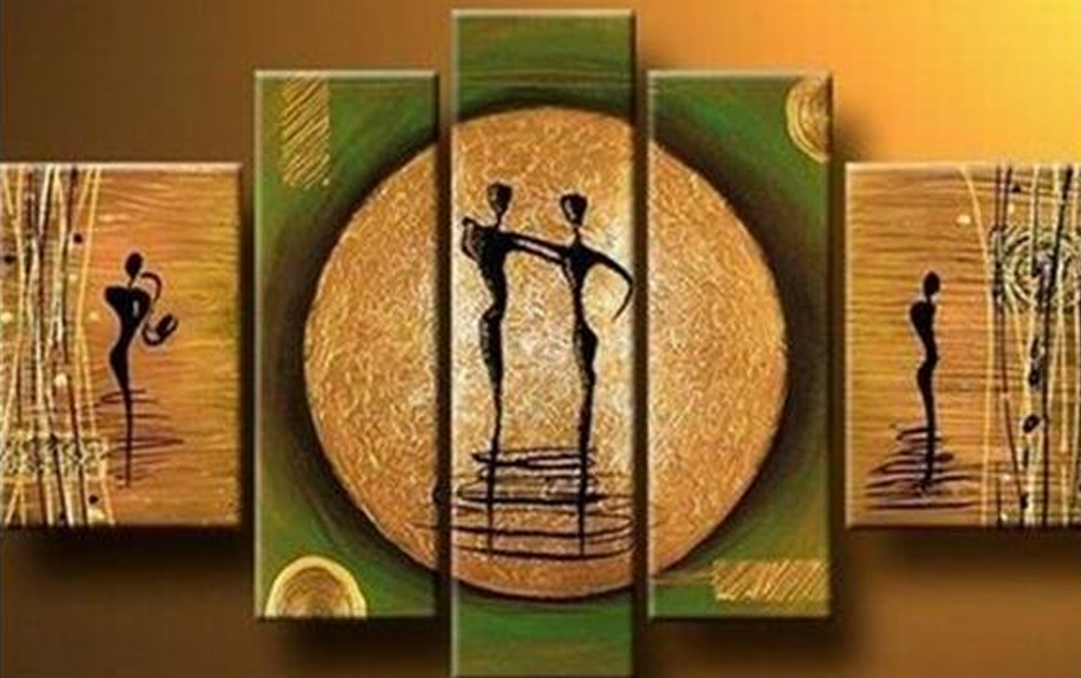 Dancing Ladies 5 piece set Painting