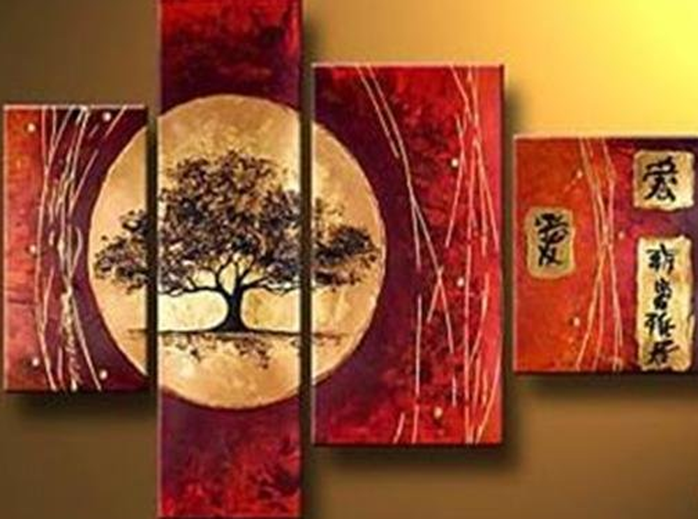 A tree 4 piece set Painting
