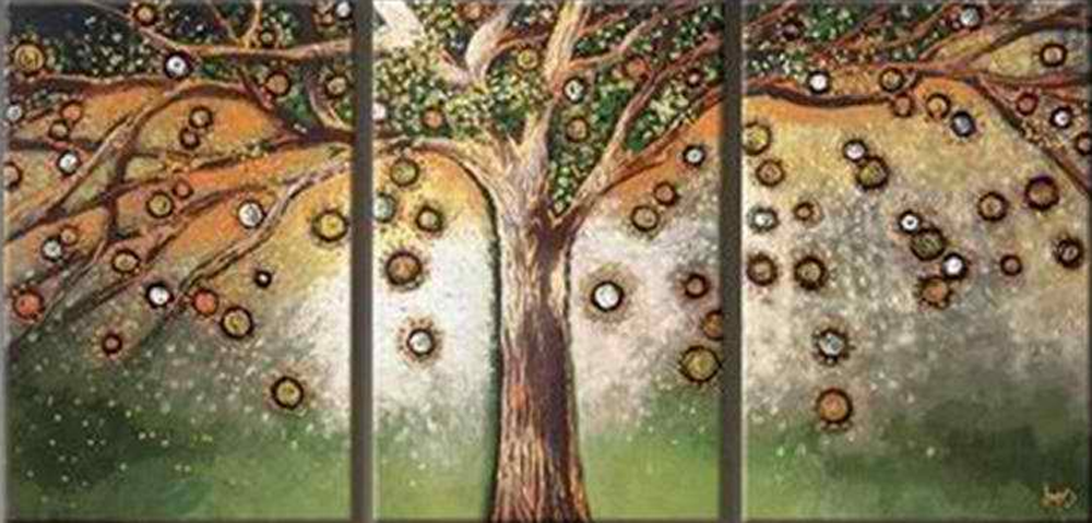Four Phase Tree 4 pieces set Painting