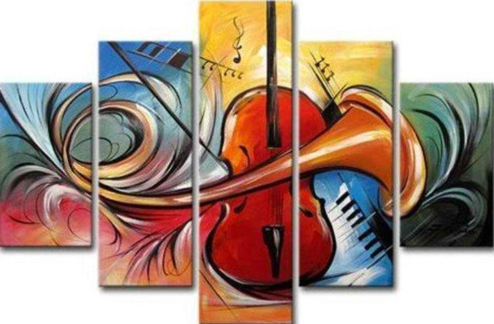 Instrument Collides 5 pieces set Painting