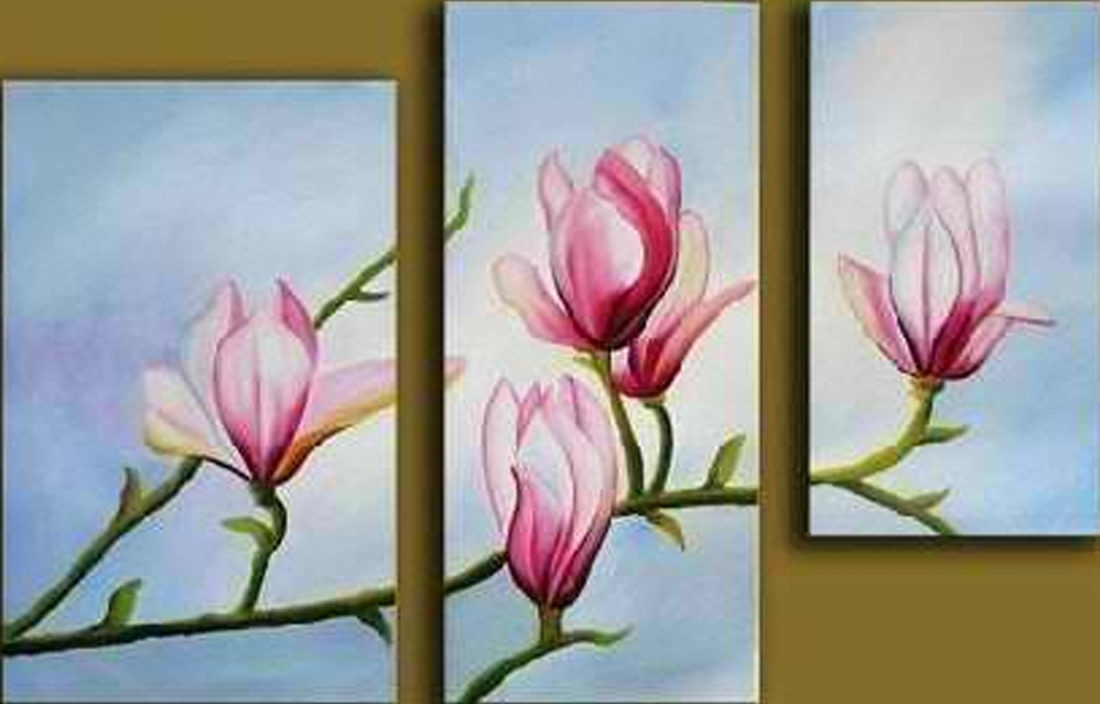 Products archive page 9 of 12 simply nice artsimply nice art pink flowers in branch 3 pieces set painting mightylinksfo