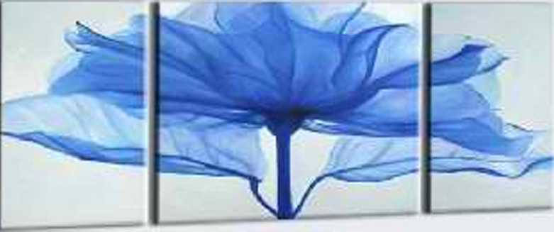 Artificial Blue Flower 3 pieces set Painting