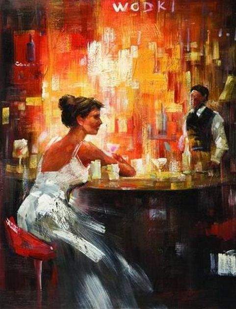 Lonely Lady at Bar