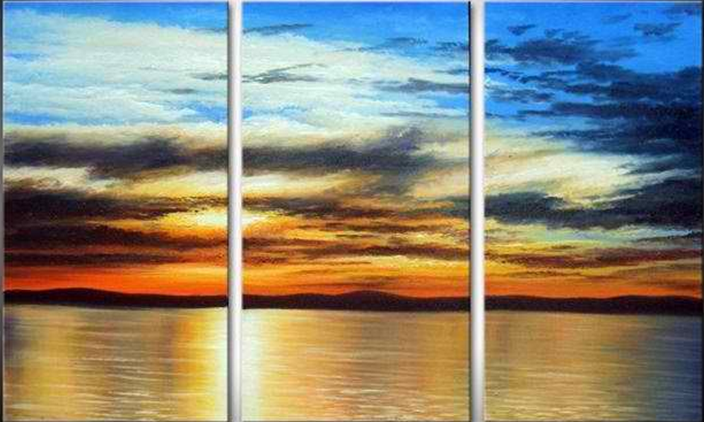 Amazing Sunset in Sea 3 pieces set Painting