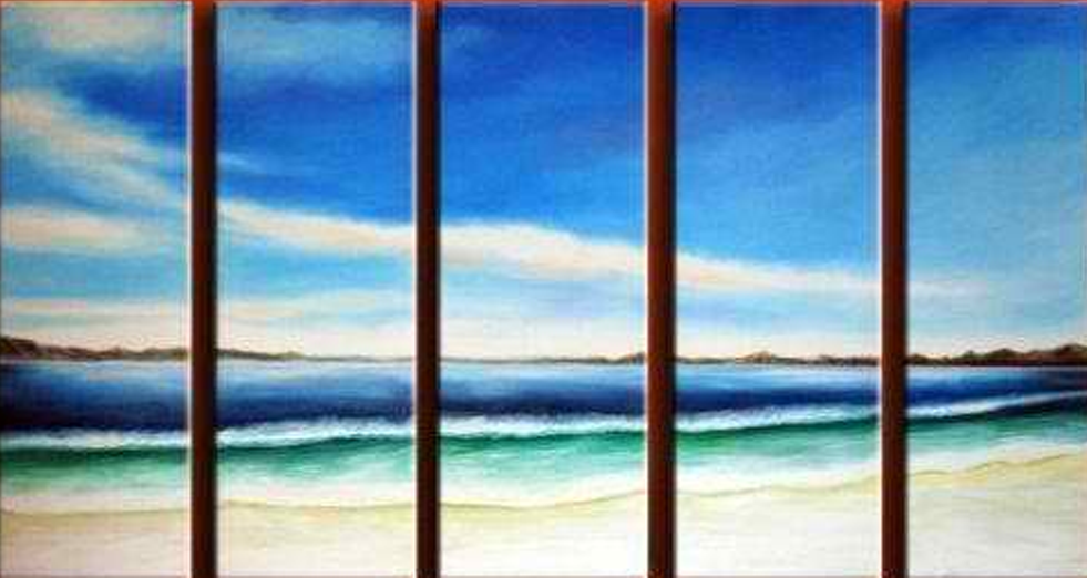 The Beach 5 pieces set Painting