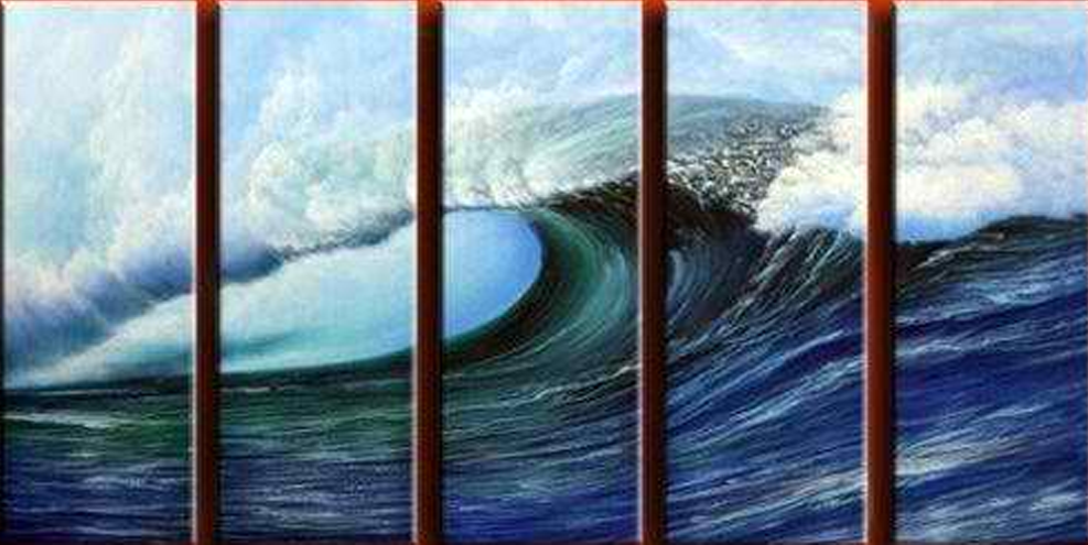 Big Waves 5 pieces set Painting