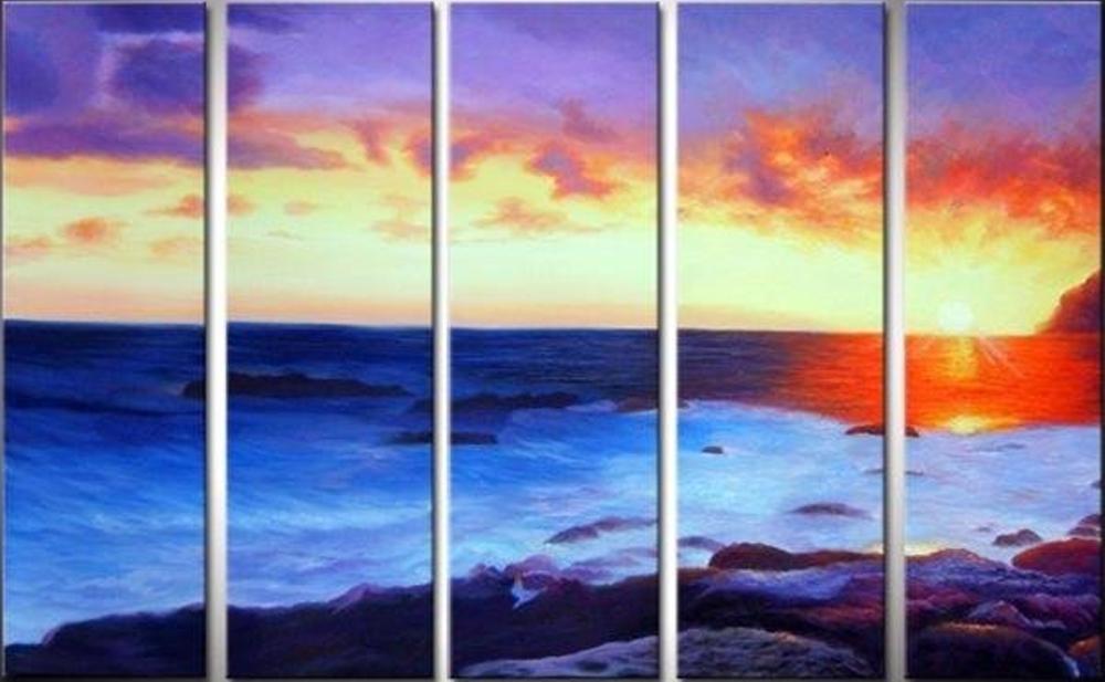 Seashore 5 pieces set Painting