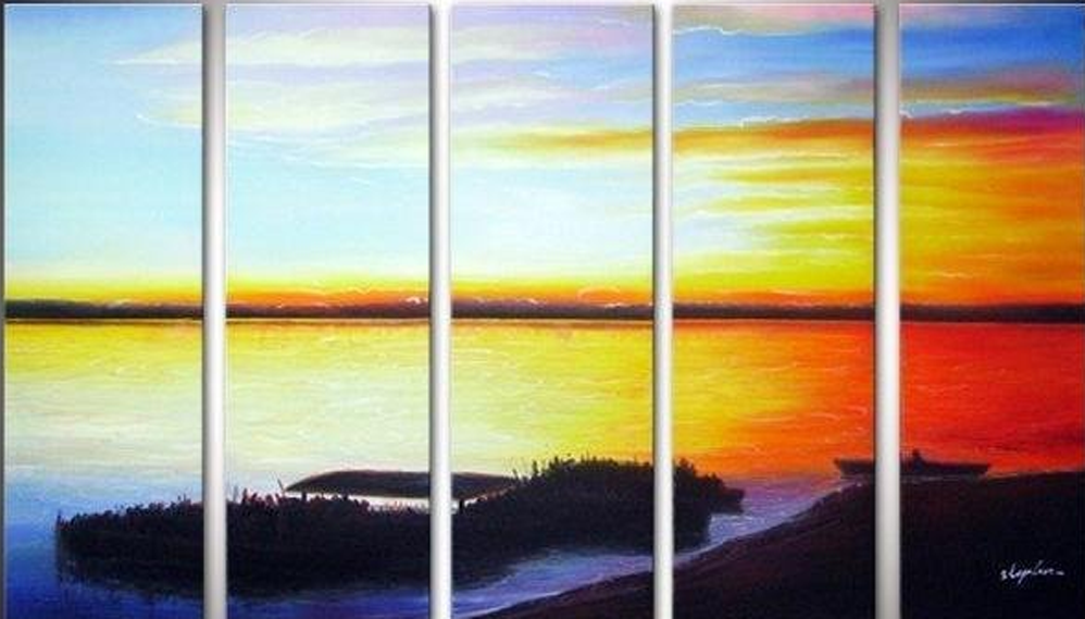 Orange Sea 5 pieces set Painting