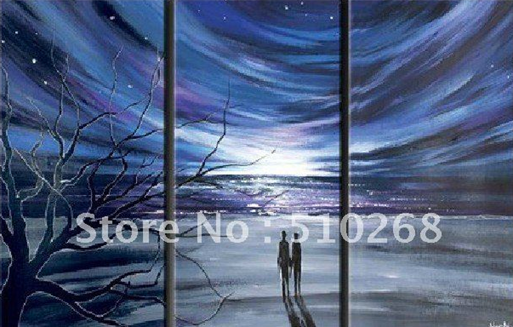 Blue Night 3 pieces set Painting