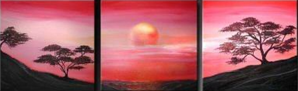 Amazing Sunset 3 pieces set Painting