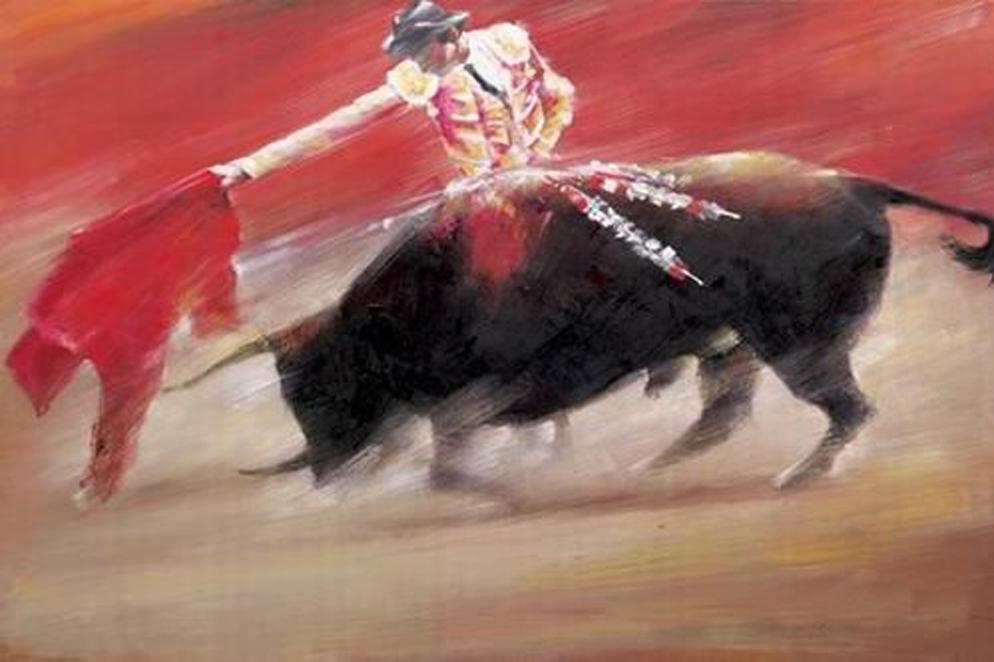 Bull Fighting Painting