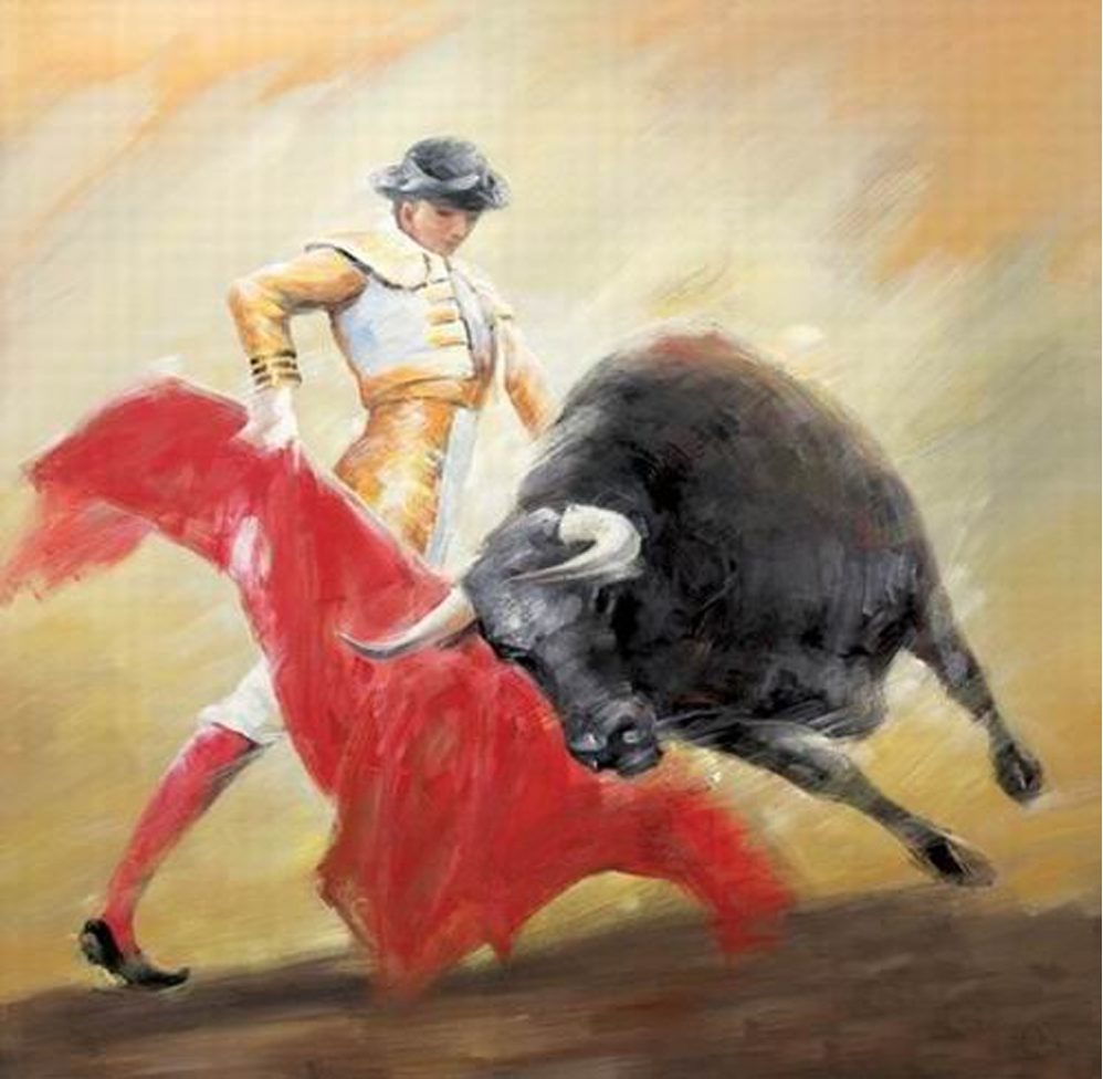 Angry Bull Painting