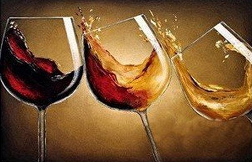 3 Wine Glasses Painting