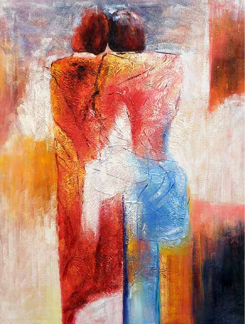 Abstract Lovers Painting