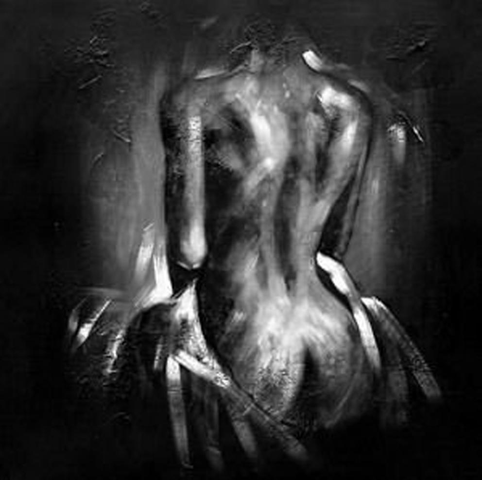 Black Naked Lady Painting