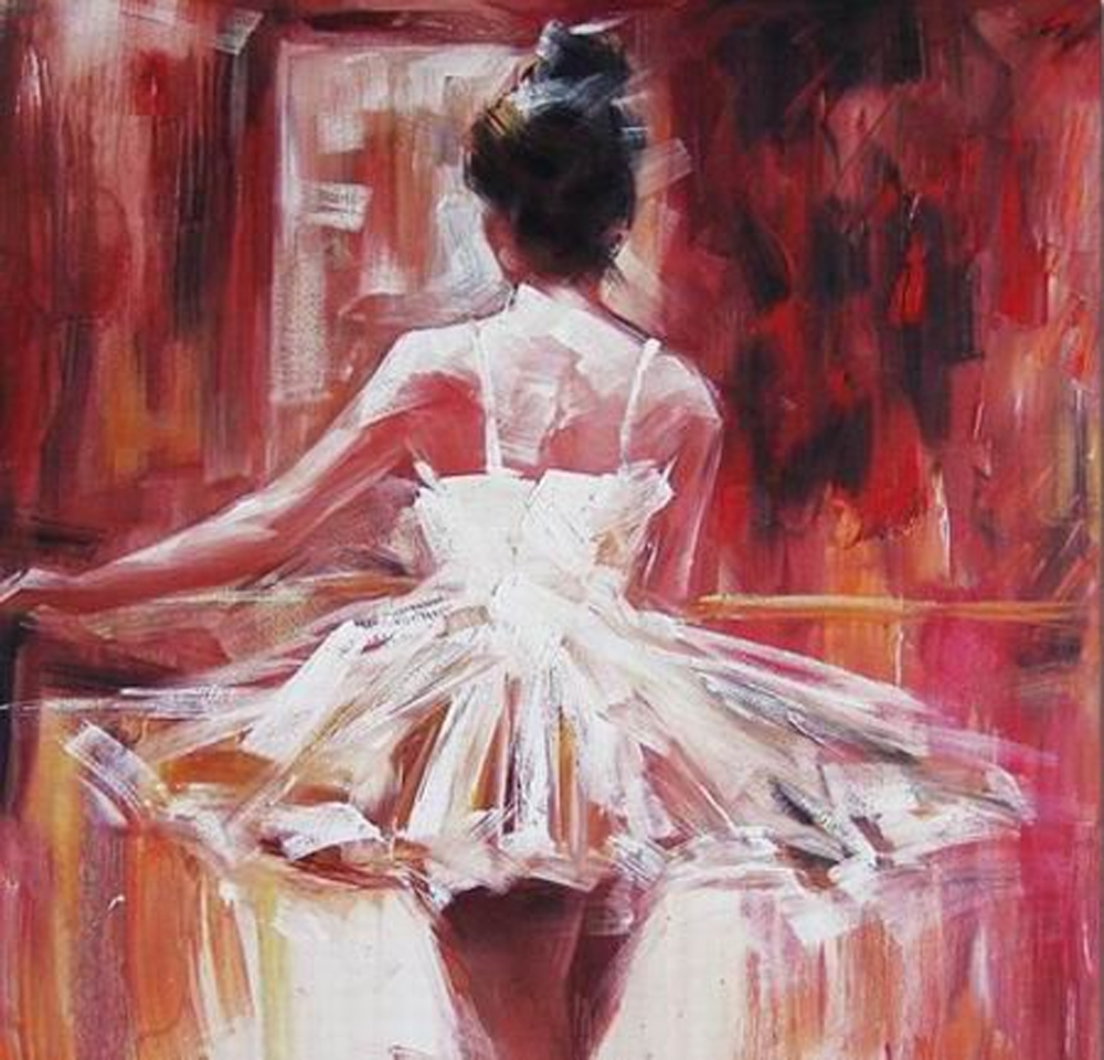 Back of a Ballerina Painting