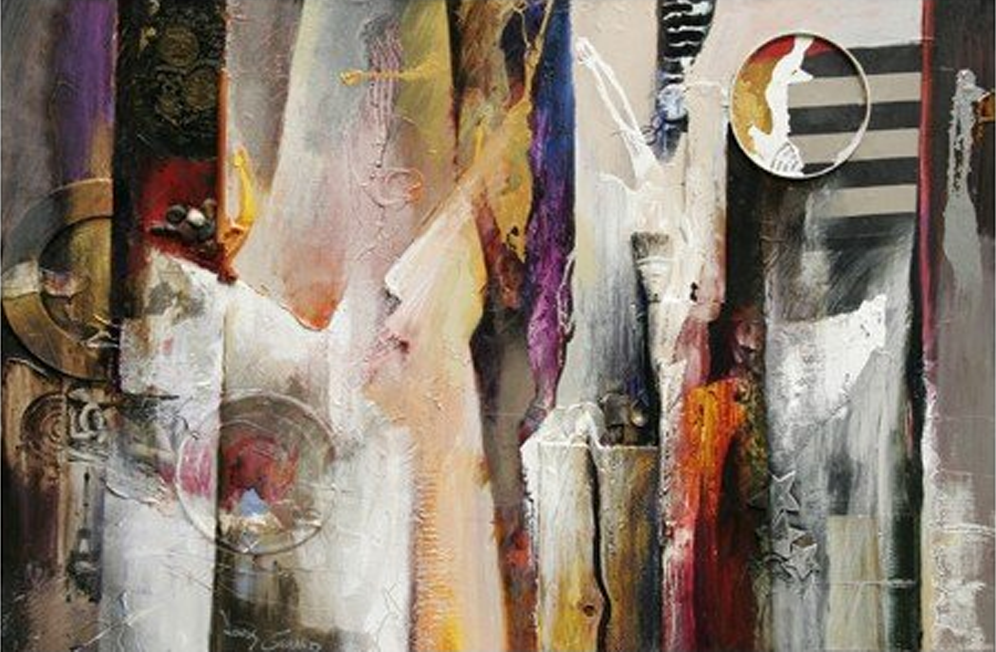 Abstract Dresses Painting
