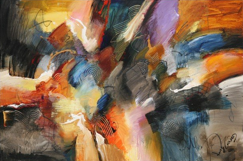 Abstract Busy Hands Painting