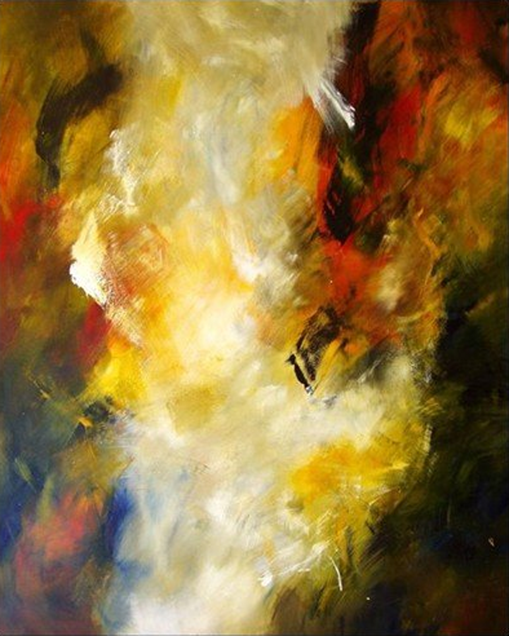 Abstract Clouds Painting