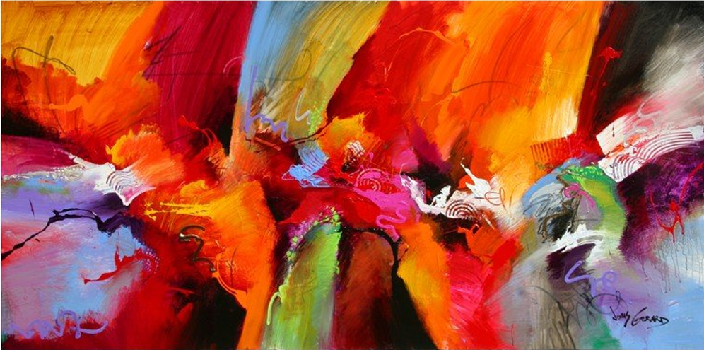 Abstract Cloth Painting