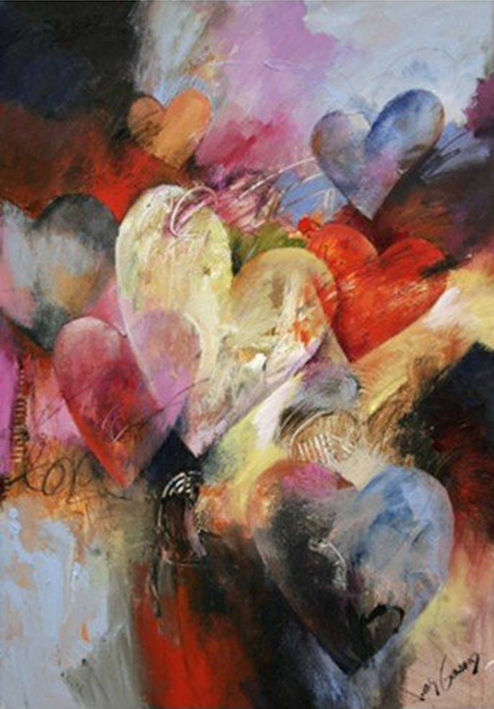 Abstract Heart Shape Painting