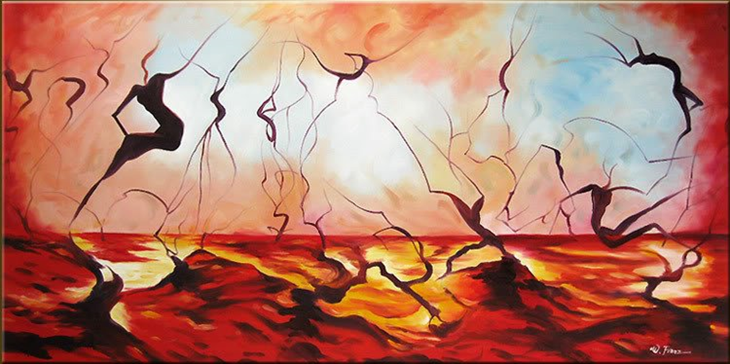 Abstract Hell Painting