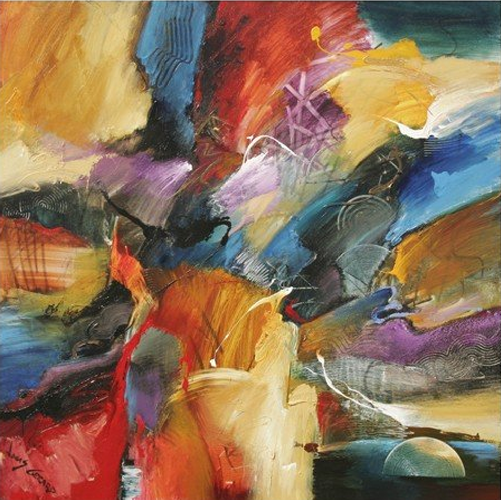 Abstract Messy Things Painting