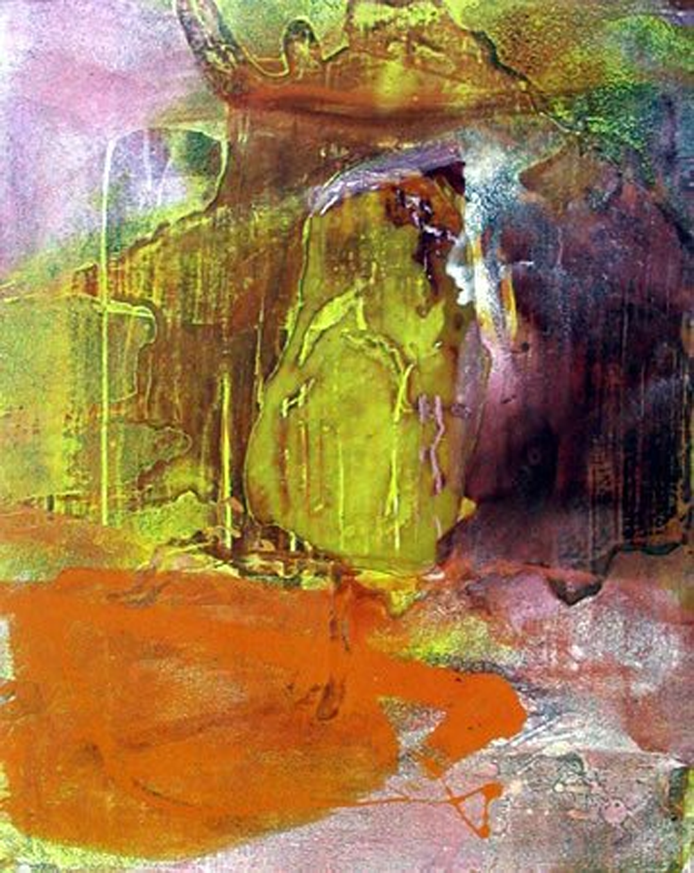 Abstract Waterfalls Painting