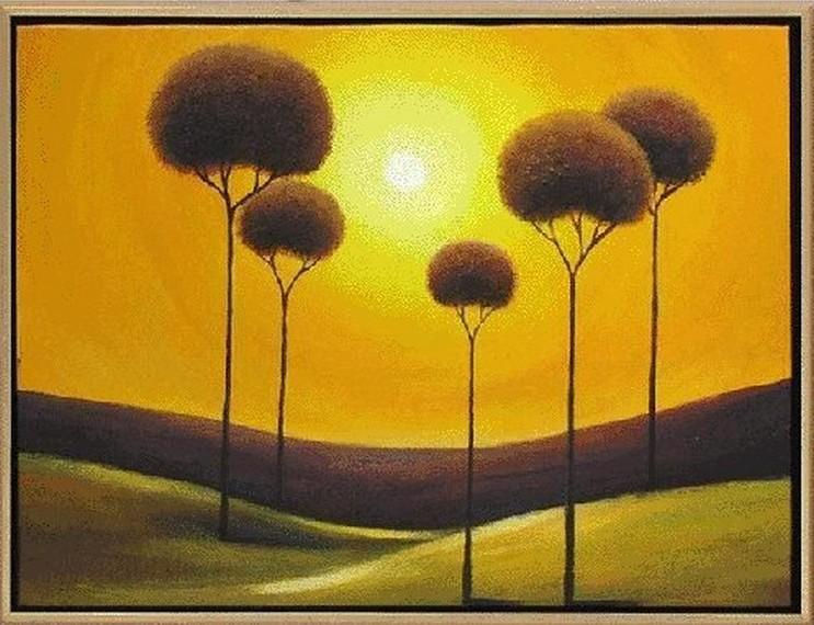 Sun Set and Trees
