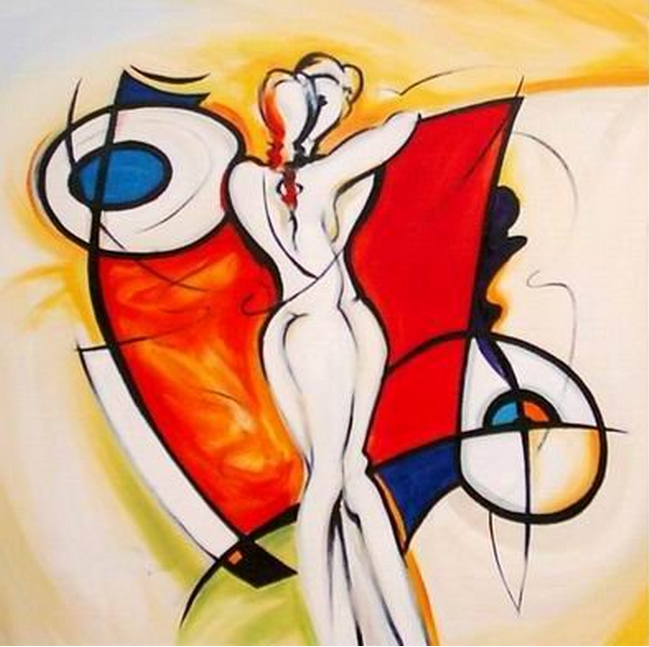 Abstract Painting of a Woman