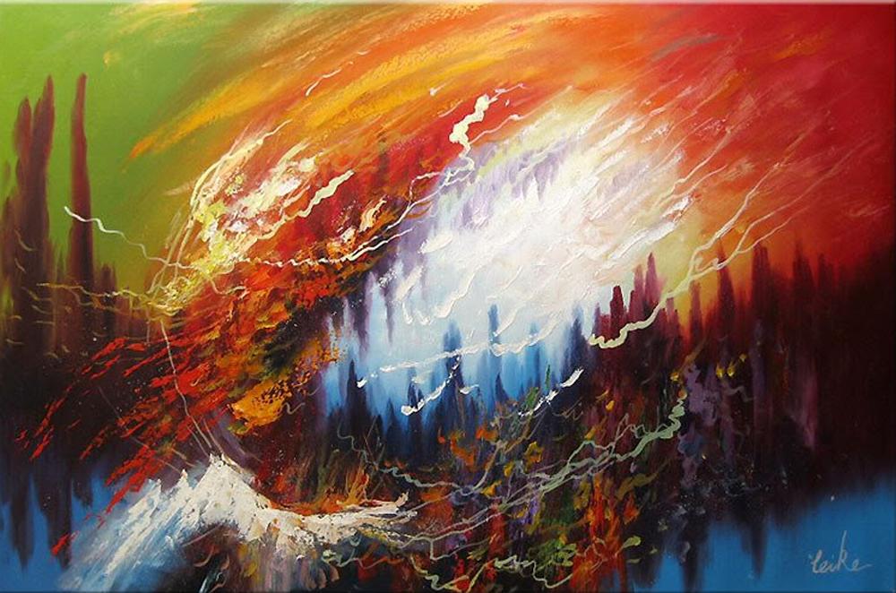Abstract Lake Painting