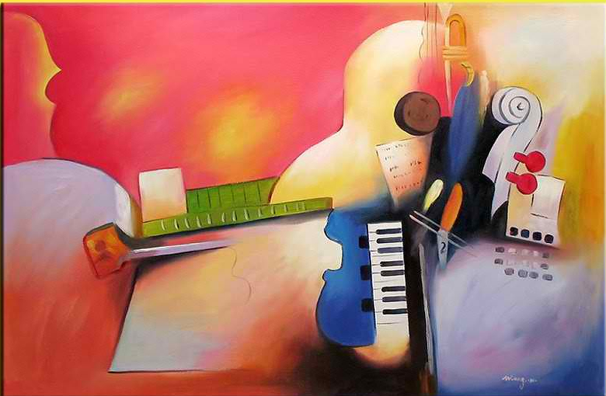Piano in A Room Painting