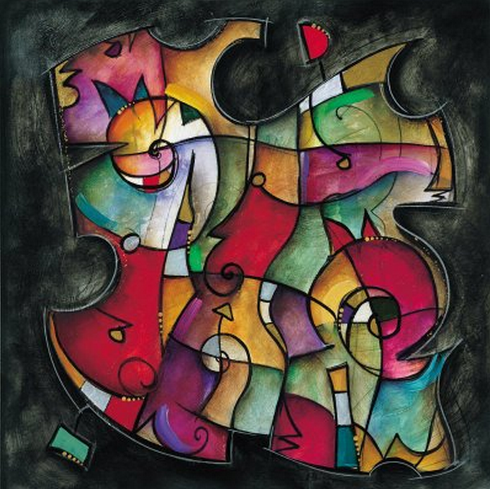 Abstract Chameleon Painting