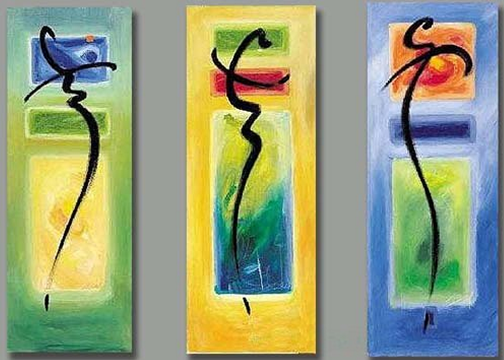 Abstract Strokes 3 piece set Painting
