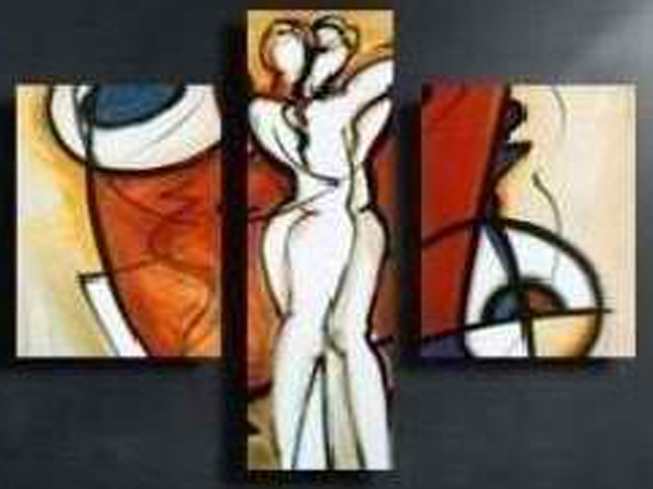 Abstract Jesus 3 piece set Painting