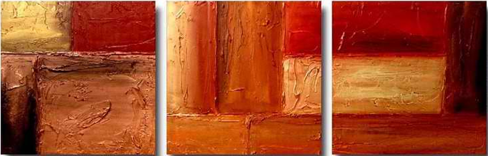 Abstract Bricks 3 piece set Painting