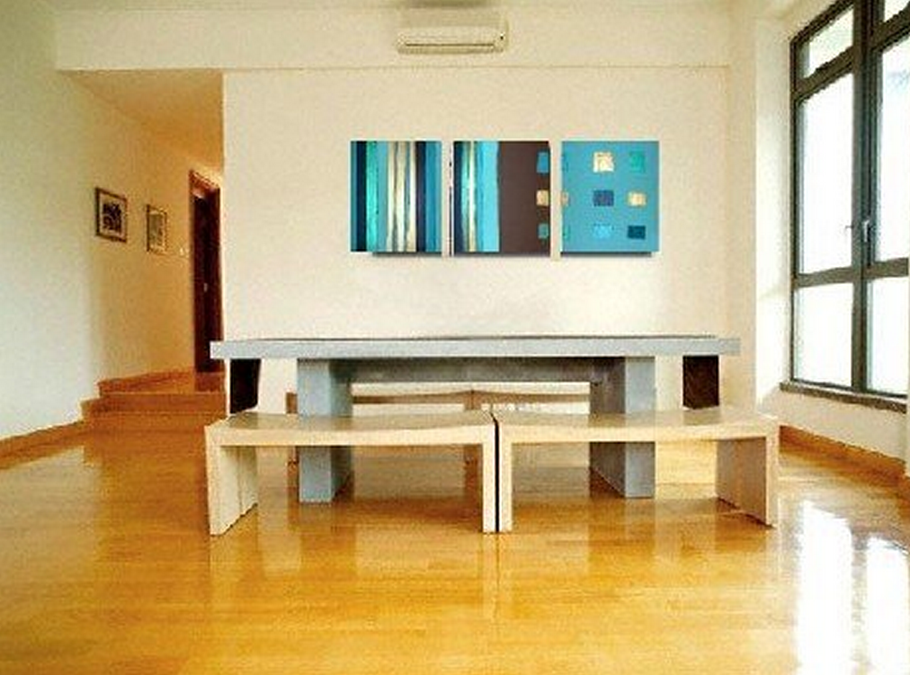Abstract Blue Color 3 piece set Painting